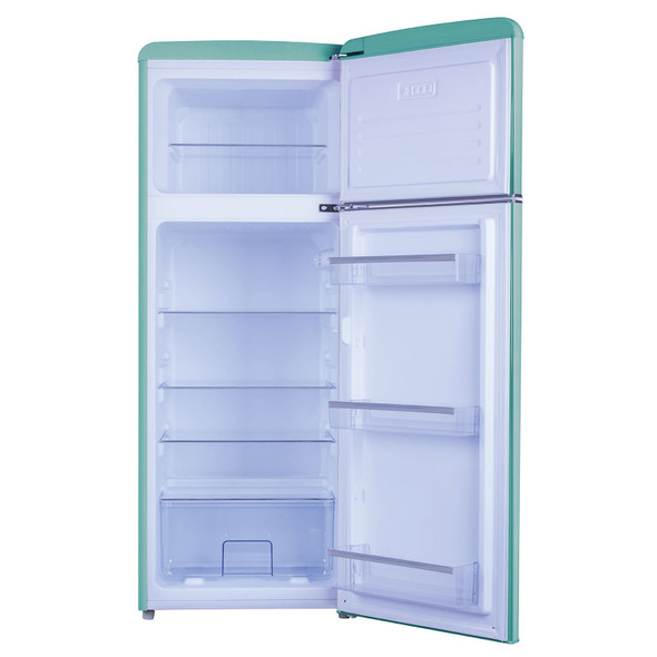 Amica FDR2213DB 55cm Duck Egg Blue Freestanding Retro A+ Rated Fridge Freezer