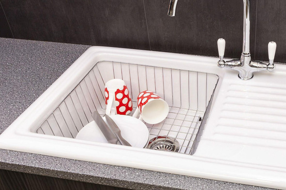 Reginox RL304CW 1 Bowl White Ceramic Traditional Reversible Kitchen Sink & Tap