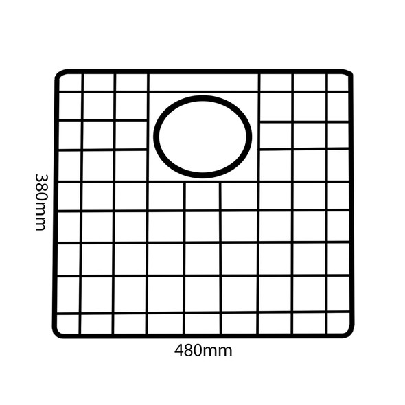Reginox R3009 Gold Coloured Bottom Grid Accessory For MIAMI50x40 GOLD Sinks
