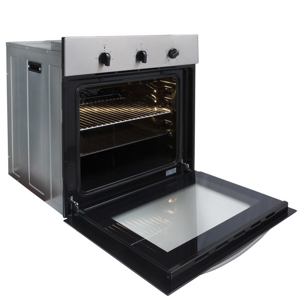 SIA SO111SS 60cm Stainless Steel Built In Single Electric True Fan Oven