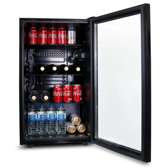 SIA DC1BL 54cm Under Counter or Freestanding 126L Drinks Fridge, Beer And Wine Cooler