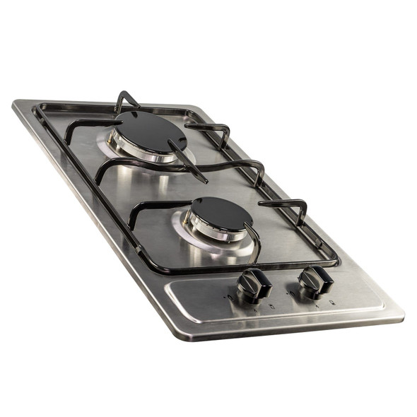 SIA SSG301SS 30cm Compact Domino Gas Hob In Stainless Steel With LPG Kit