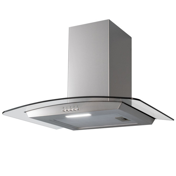 SIA CGH60SS 60cm Stainless Steel Curved Glass Chimney Cooker Hood Extractor Fan