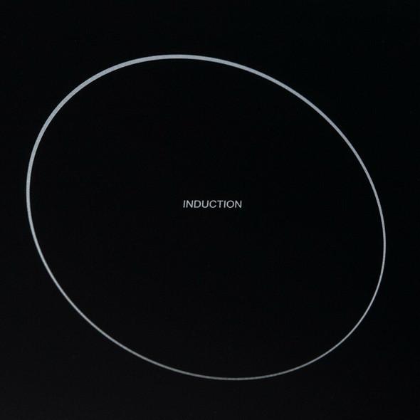 SIA 30cm Black 2 Zone Electric Domino Induction Hob & 50cm Visor Cooker Hood Fan