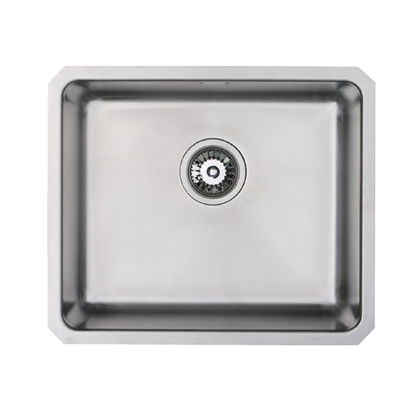 SIA 1.0 Bowl Stainless Steel Undermount Kitchen Sink With Waste Kit W530xD450mm