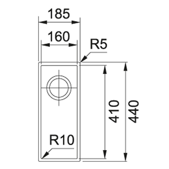 Franke SID 110-16 1.0 Bowl Coffee Tectonite Undermount Kitchen Sink & Waste Kit