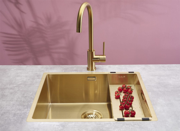 Reginox Miami 50x40cm Gold Single Bowl Undermount Stainless Steel Kitchen Sink