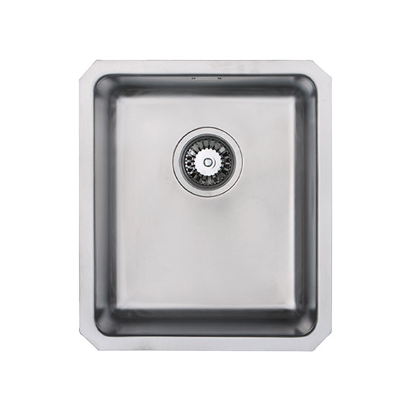 SIA 1.0 Bowl Undermount Stainless Steel Kitchen Sink With Waste Kit  W390xD450mm
