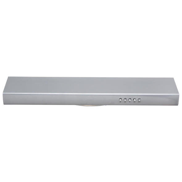 SIA STH60SI 60cm Silver Slimline Visor Cooker Hood Extractor Fan And 3m Ducting