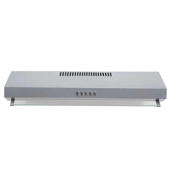 SIA VSR60SI 60cm Silver Slimline Visor Cooker Hood Extractor Fan And Filter