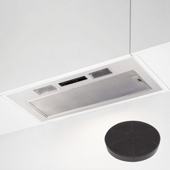 SIA 70cm Under Cupboard Canopy Built In Cooker Hood Extractor Fan + Filter
