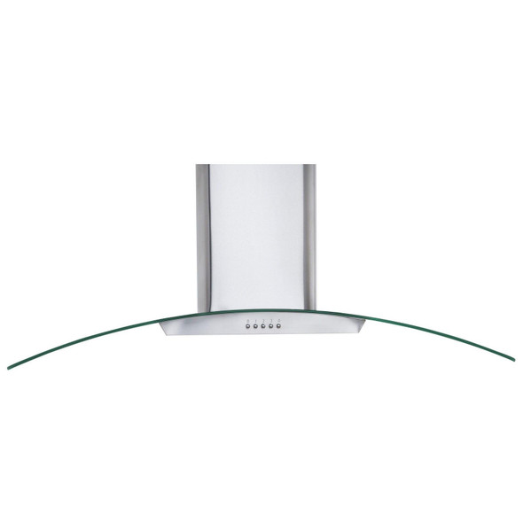 SIA CGH110SS 110cm Stainless Steel Curved Glass Chimney Cooker Hood And Filter