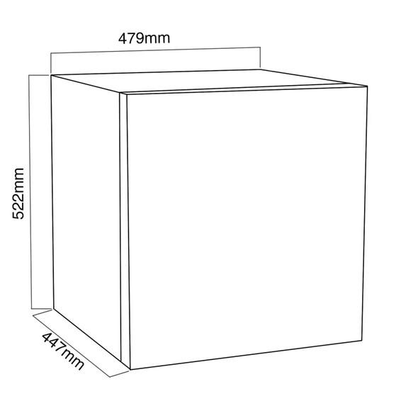 SIA 47L Black Mini Drinks Fridge With Ice Box & 38L Black Table Top Mini Freezer