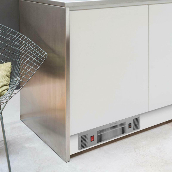 SIA PLH1 2kW Stainless Steel Slimline Electric Kitchen Plinth Heater