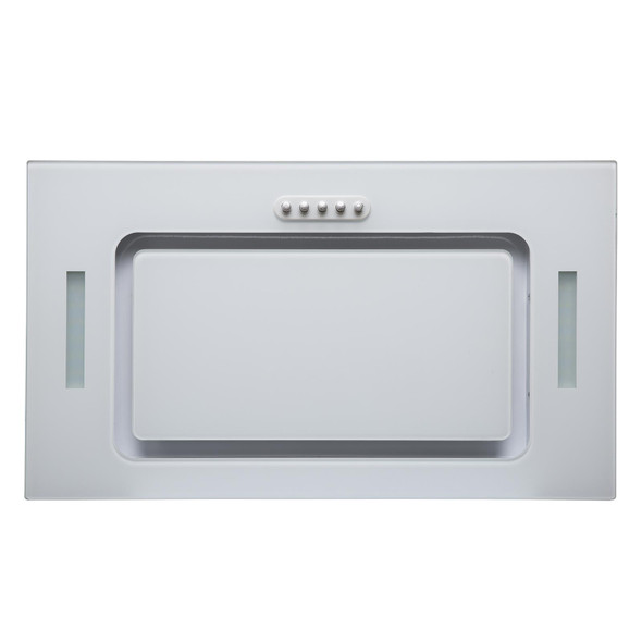 SIA UCG52WH 52cm White Glass Built In Kitchen Cupboard Cooker Hood Extractor Fan