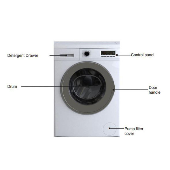 Amica AWDI814D 8kg Wash 6kg Dryer Freestanding 1400rpm 15 Programme Washer Dryer
