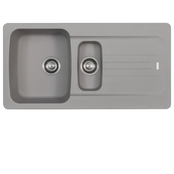 Franke Aveta 1.5 Bowl Stone Tectonite Kitchen Sink & Brushed Nickel Mixer Tap