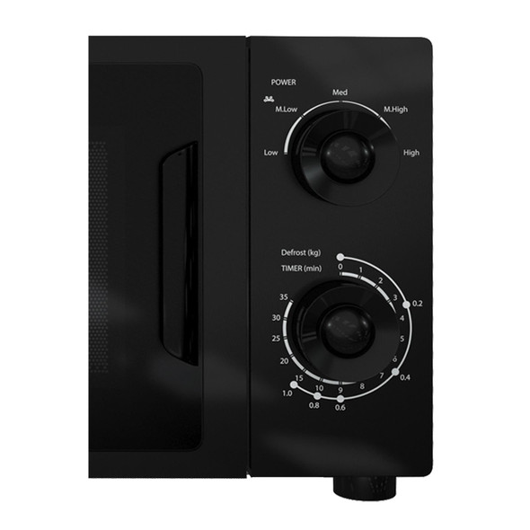 SIA MTM20BL 20L Freestanding 700W Black Mechanical Timer Microwave Oven