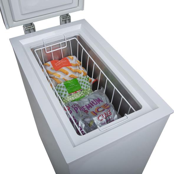 SIA CHF60W 36cm Freestanding Slimline Compact White Chest Freezer A+ Energy