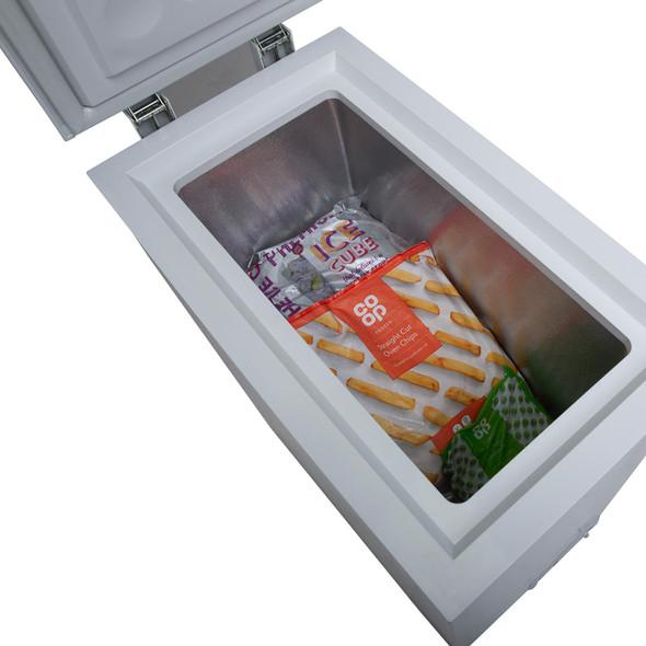 SIA White 36cm Compact Chest Freezer For Caravans, Mobile Home, Camper van, Boat