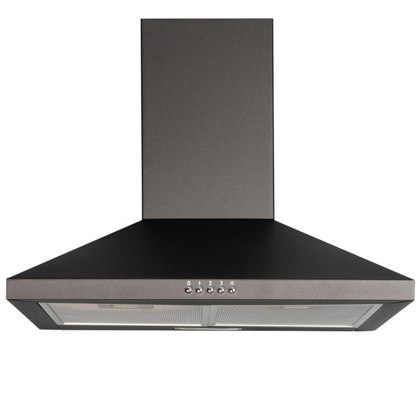 SIA CHL60BL 60cm Chimney Cooker Hood Extractor Fan In Black  And 3m Ducting Kit