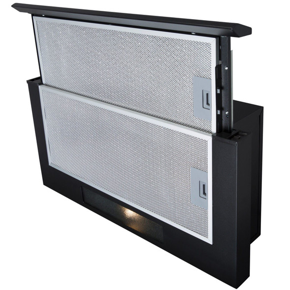 SIA TSH60BL 60cm Black Telescopic Integrated Cooker Hood And Carbon Filter