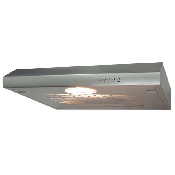 SIA STH60SS 60cm Stainless Steel Visor Cooker Hood Extractor Fan And 1m Ducting