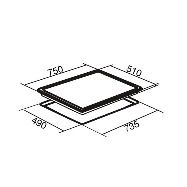 SIA CERH75BL 75cm Black 5 Zone Frameless Touch Control Electric Ceramic Hob