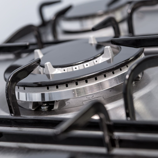 SIA 60cm Black Built In Double Oven And 70cm 5 Burner Stainless Steel Gas Hob