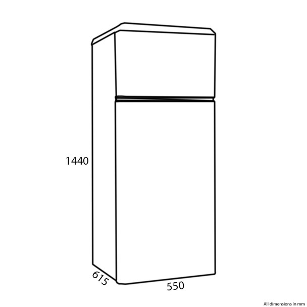 Amica FDR2213C 55cm Cream Freestanding Tall Retro Style A+Rated Fridge Freezer