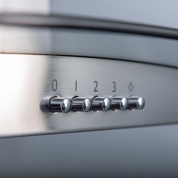 SIA 60cm Stainless Steel Single Electric True Fan Oven, Gas Hob &Extractor Fan