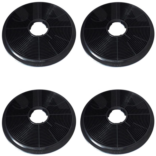 4x CO6 Carbon Re-circulation Filters for SIA Kitchen Cooker Hood Extractor Fans