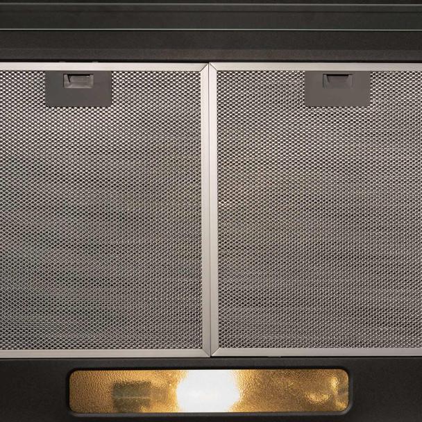 SIA STH50BL 50cm Black Slimline Visor Cooker Hood Kitchen Extractor & 1m Ducting