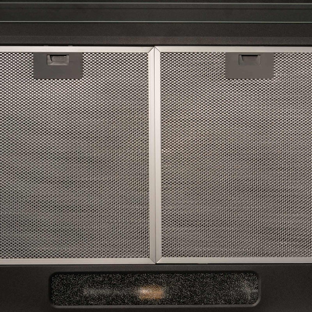 SIA STH50BL 50cm Black Slimline Visor Cooker Hood Kitchen Extractor & 3m Ducting