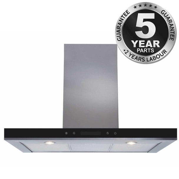 SIA 90cm Stainless Steel Linear Touch Control Kitchen Cooker Hood Extractor Fan