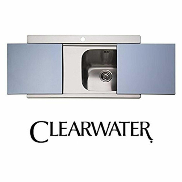 Clearwater Mirage 1 Bowl LHD Stainless Steel Sink & Silver Glass Chopping Boards