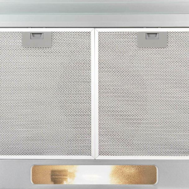 SIA 50cm Stainless Steel Slimline Visor Cooker Hood Extractor Fan &Filter