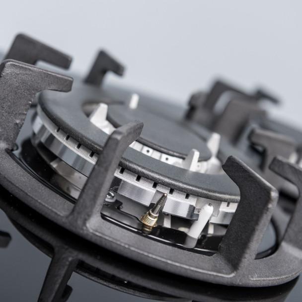SIA 60cm Black Single Electric Digital Oven, 70cm Gas Hob & Angled Cooker Hood