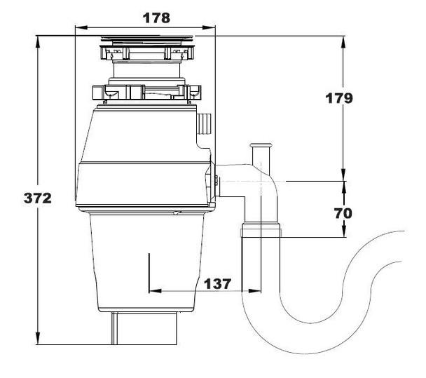 Reginox RD 60 Kitchen Sink Waste Disposal Unit 0.55 HP 2600 RPM