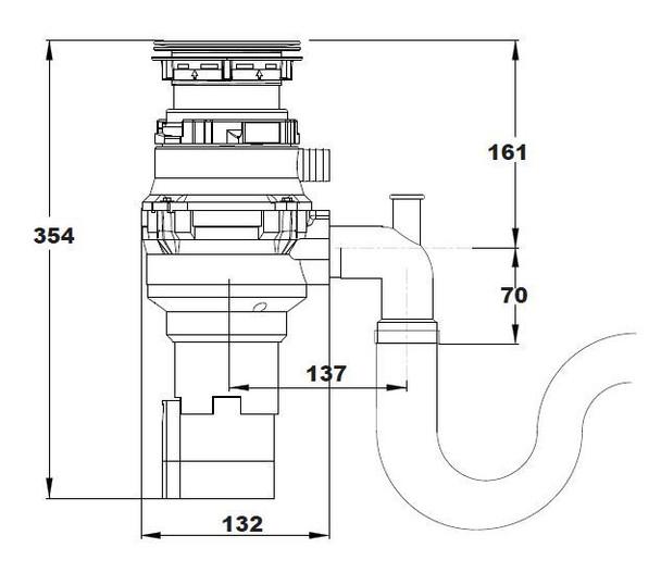 Reginox RD 50 Kitchen Sink Waste Disposal Unit 0.5 HP 2600 RPM