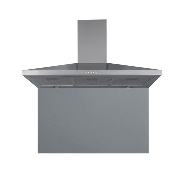 SIA CHL90SS 90cm Stainless Steel Chimney Hood Fan And Toughened Glass Splashback
