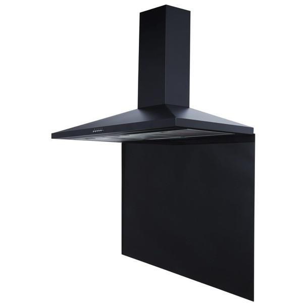 SIA SP100BL 100cm x 75cm Black Toughened Glass Kitchen Splashback