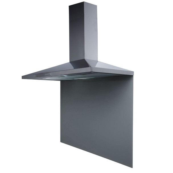 SIA SP100GY 100cm x 75cm Grey Toughened Glass Kitchen Splashback
