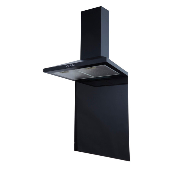 SIA SP60BL 60cm x 75cm Black Toughened Kitchen Glass Splashback