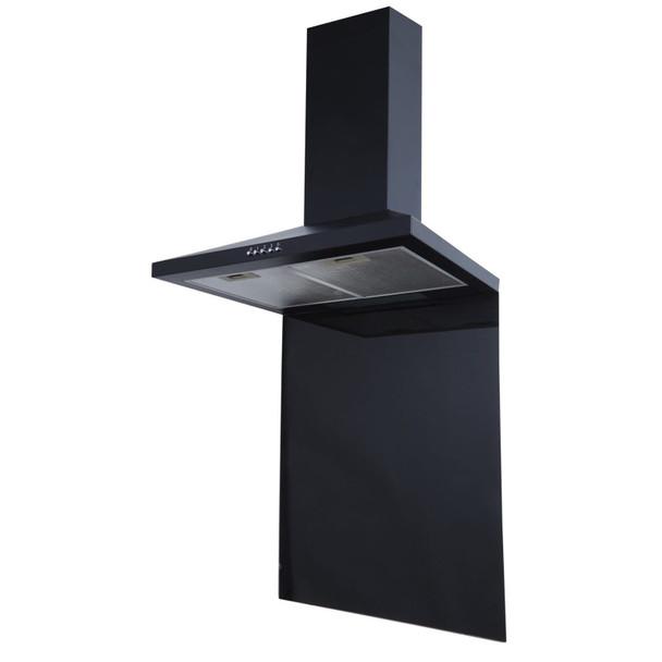 SIA SP70BL 70cm x 75cm Black Toughened Kitchen Glass Splashback