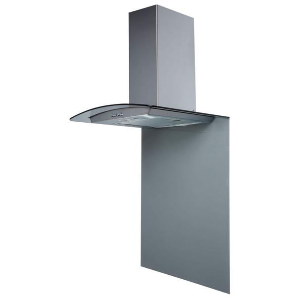 SIA SPC70GY 70cm x 75cm Grey Toughened Curved Glass Kitchen Splashback