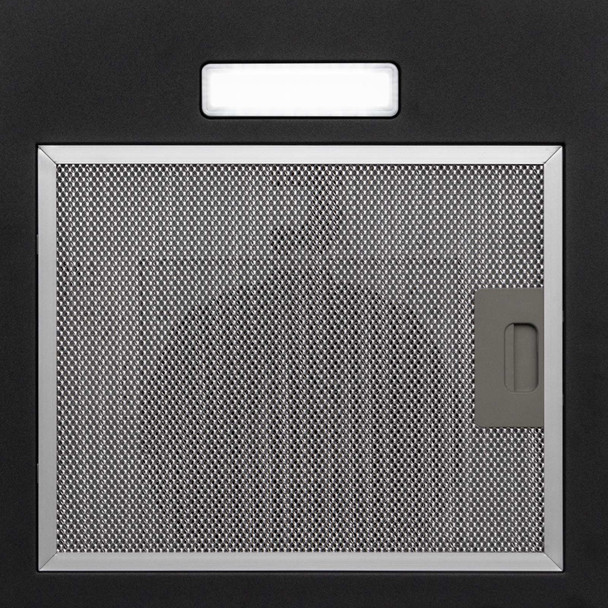 SIA 60cm Black 3 Colour Edge Curved Glass Cooker Hood Extractor Fan & 3m Ducting