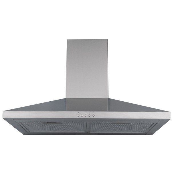 SIA 60cm Stainless Steel 4 Burner Gas Hob And Chimney Cooker Hood Extractor Fan