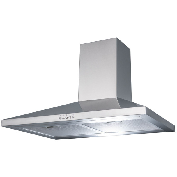 SIA Stainless Steel 60cm 4 Burner Gas Hob And Chimney Cooker Hood Extractor Fan