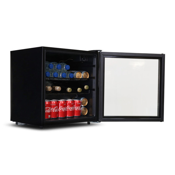 SIA DC2BL 52L Table Top Mini Drinks Beer And Wine Fridge Cooler With Glass Door